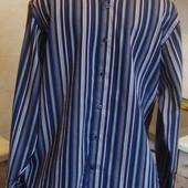 рубашка черно-синяя в полоску Curtis Размер М 40-42 100%котон Новая