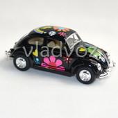 Машинка Volkswagen Classical Beetle метал 1:32 чер