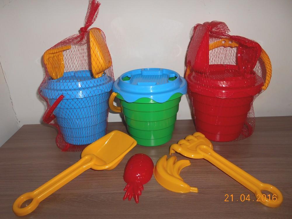 Новые наборы в песочницу: ведерко, сито, лопатка, грабельки и 2 пасочки фото №1