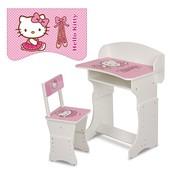 Парта детская Bambi 301-1,Hello Kitty,белая,растущая