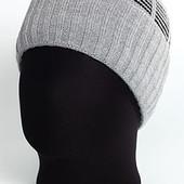 Классическая мужская шапка с отворотом и комбинированным верхом Atis