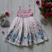 3-4 года Нарядное цветочное платье Boutigue