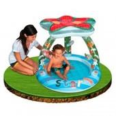 Бассейн детский с навесом крышей intex звезда и надувной плотик 2 в 1