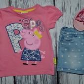 Фирменная футболка с Peppa Pig Свинка Пеппа 2 - 3 года 98 см