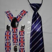 Набор подтяжки с рисунком + галстук