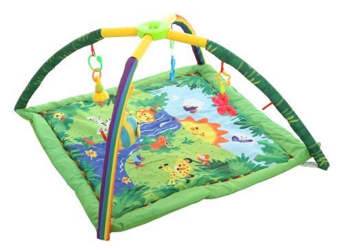 Детский развивающий коврик с погремушками 68002 фото №1