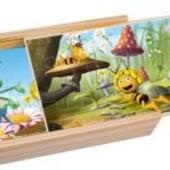 4 Пазла в дерев.коробке Пчелка Майя 2 от  Bino