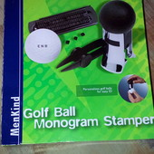 Гольф Golf Ball Monogram Stamper