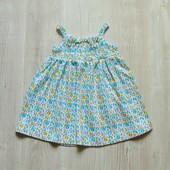 Нежное трикотажное летнее платье для маленькой принцессы. F&F. Размер 0-3 месяца