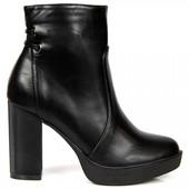 Зимние ботиночки на каблуке