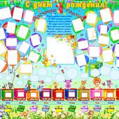 Супер-Мега плакат, стенгазета на годовасию и 2-й ДР!!!