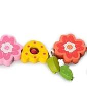 Деревянная подвеска в коляску «Цветы» (0700)