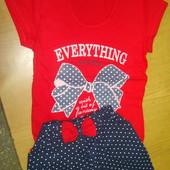 Футболка +юбка! Нарядные комплекты для маленьких модниц!