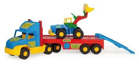 Wader super truck перевозчик с трактором 36520, 78 см фото №1