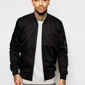 Куртка бомбер,чёрная. Размер: S M L хL (2з