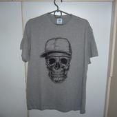 футболка мужская череп в кепке новая s m l xl