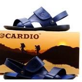 Сандалии Cardio, р. 40-45, синий, черный, натур. кожа, код kv-2803