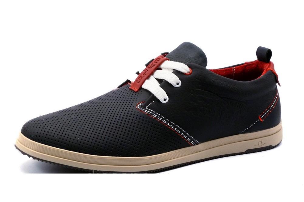 Туфли Levi's, р. 40,42,43, натур. кожа, 2 цвета, перфорация, код kv-2882 фото №1