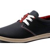 Туфли Levi's, р. 40,42,43, натур. кожа, 2 цвета, перфорация, код kv-2882