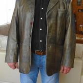 Кожаный пиджак. Натуральная кожа. 52 размер. Турция.