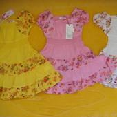 Нежные хлопковые летние платья-сарафаны Grace,для девочек ростом 98-128 см.