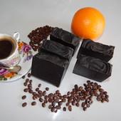 антицелюллитное натуральное кофейное мыло-скраб, массажное, для проблемных зон
