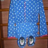 Пижама флисовая, Пингвинчик, женская, размер М, рост до 175 см