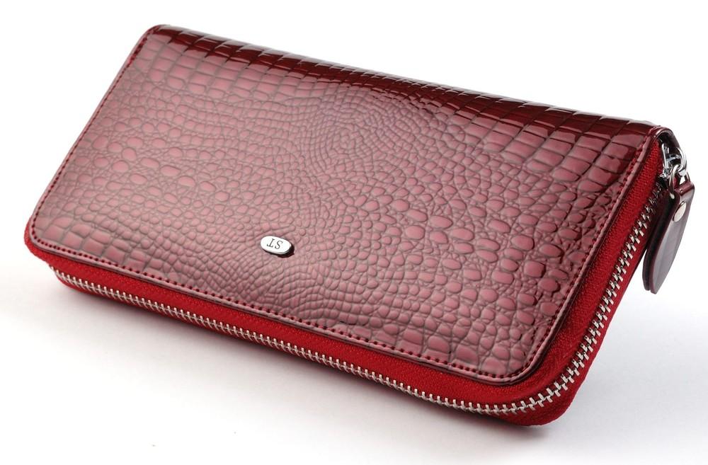 Купить женский кошелек на молнии из натуральной