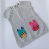 Вязаное платье с симпатичными кармашками (1/5-2 года ) 545  грн