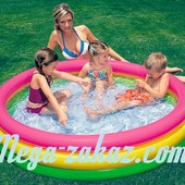 """Детский надувной бассейн """"Радуга"""" Интекс 114х25см, от 3 лет (Intex 57412)"""