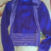 Нарядная итальянская фиолетовая блузка