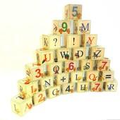 Кубики большие с картинками «Английский алфавит с цифрами»,Брынских и К
