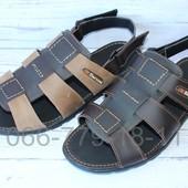 Мужские сандалии, натуральная кожа(спилок), 2 цвета