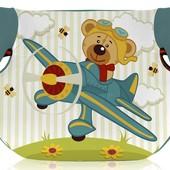 Автокресло-бустер детское Bertoni Teddy  15-36 (aquamarine pilot bear)