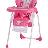 Стульчик для кормления, детский Bertoni Oliver Pink Kitten (розовый), с рисунком