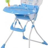 Стульчик для кормления Bertoni Jolly Blue Friends (голубой), с рисунком