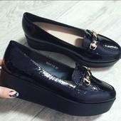 SALE Модные туфли на танкетке,на платформе,на высокой подошве, питон, лак, лаковые, мокасины, лоферы