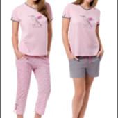 Женская пижама костюм для дома тройка 3 в 1 размеры до 2ХЛ  Польша