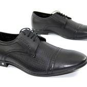 Мужские туфли Mida Black натуральная кожа