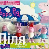 """Набір  іграшок  """"Свинка Пеппа з друзями"""" ,4 шт.,блістер"""