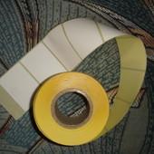 100шт.наклейки 5,8*4см белые матовые  для адреса на посылках,пометок на консервации