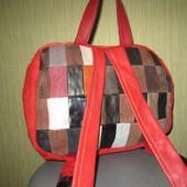 Стильный яркий рюкзак 100% натуральная кожа
