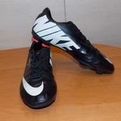Кожаные футбольные бутсы Nike Mercurial, Оригинал, для мальчика , размер 5,5 (24 см)