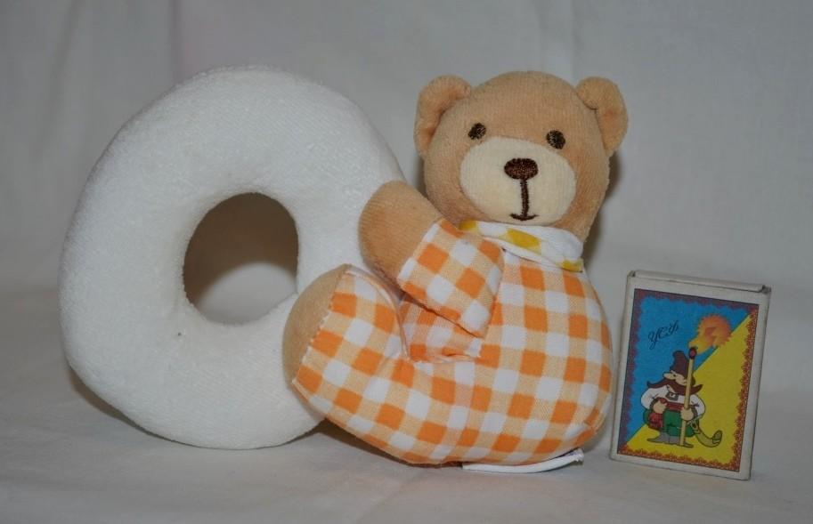 Удивительно нежная и красивая погремушка мишка медведь фото №1