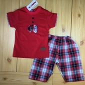 Летний костюм для мальчика Джентельмен рр.80-104 2 цвета Beebaby (Бибеби)