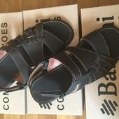 Кожаные мужские сандалии С-7 коричневые