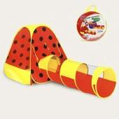 Игровая палатка «Божья коровка» с тоннелем трубой