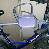 Велокресло на мужской и женский/дамский велосипед, крепление под седло