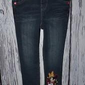 3 - 4 года 98 - 104 Самые модные фирменные джинсы скины узкачи девочке с Минни Маус Minnie Mouse