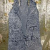 модный красивый джинсовый сарафан комбинезон